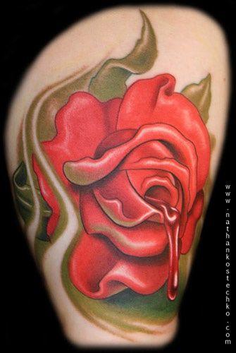 红色鱼纹身手稿分享展示