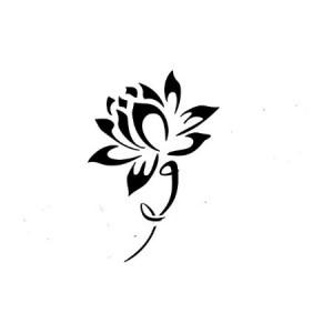 推荐一款图腾莲花纹身图案