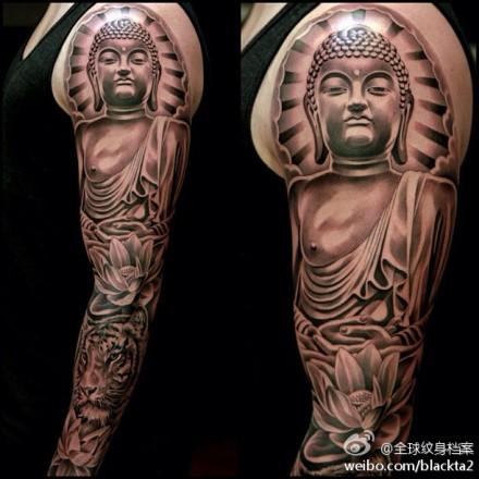 男大花臂纹身手稿分享展示