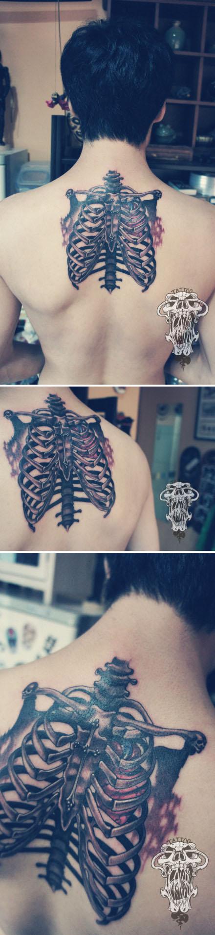 骨头手背纹身图案大全展示