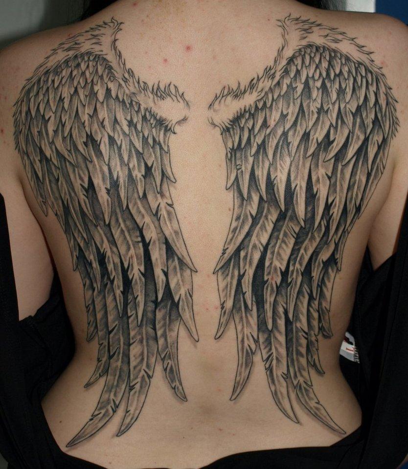 天使翅膀纹身图案