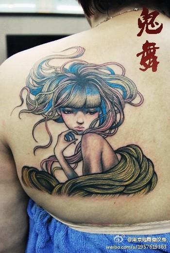 艺妓纹身图案女生_艺妓纹身图案女生分享展示 (350x521)