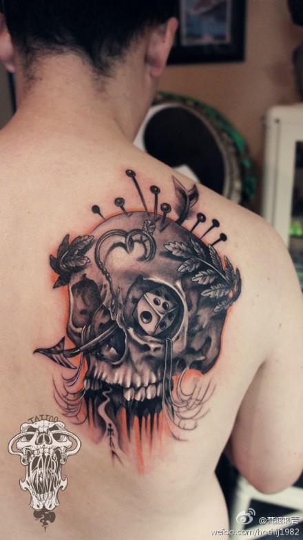 的骷髅纹身图案