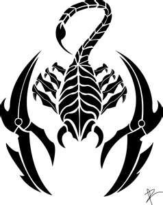 的蝎子纹身手稿_纹身图案