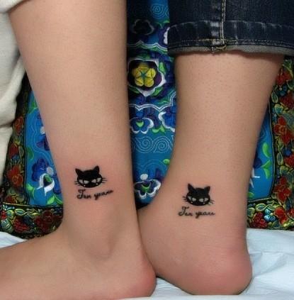 图腾猫咪纹身图案