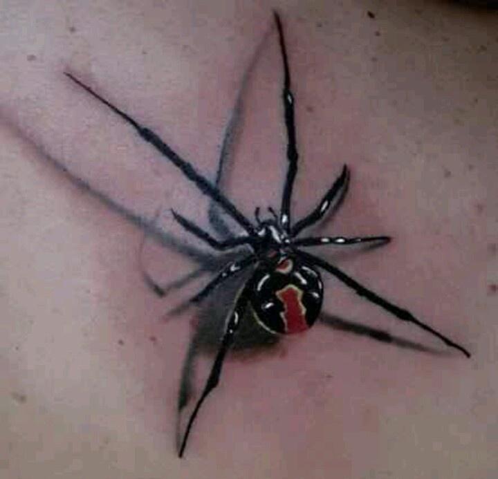 一款立体个性的蜘蛛纹身图案