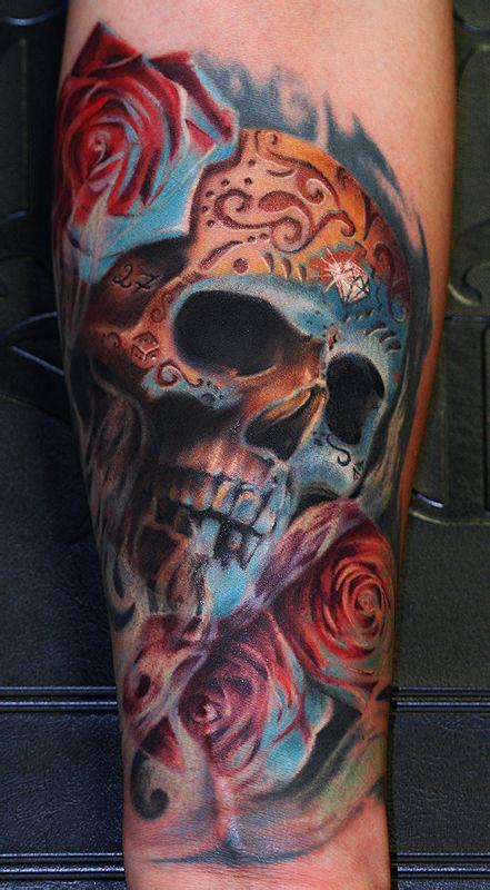 推荐一款潮流霸气的骷髅纹身图案