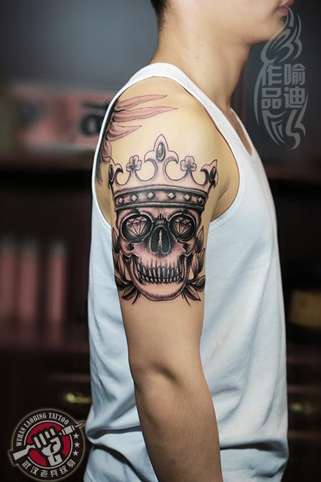 武汉最好纹身店2014年为刚刚退役的小伙子打造的大臂