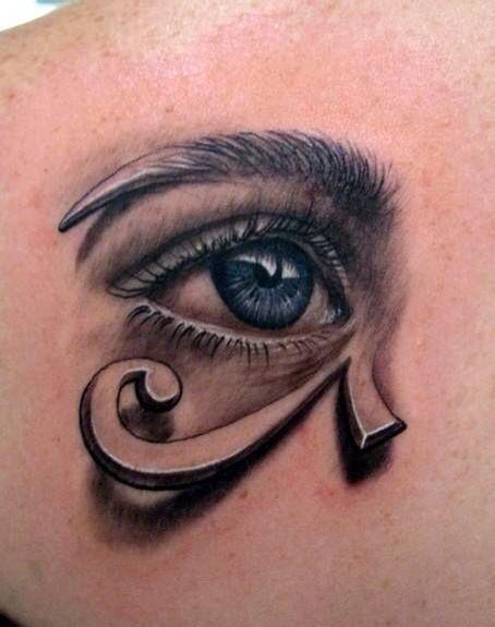 推荐一款时尚个性的眼睛纹身图案