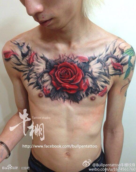 玫瑰花纹身图案图片