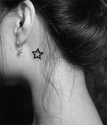 耳后纹身图片女小清新_耳后纹身小清新纹身图案印象307的图片