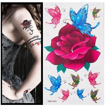 分享一款时尚个性小清新五角星纹身图案