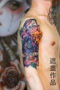 武汉最好纹身店打造的遮盖作品--星空SCHOOL纹身