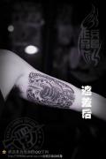 武汉专业纹身店打造的遮盖旧图--手臂3D纹身