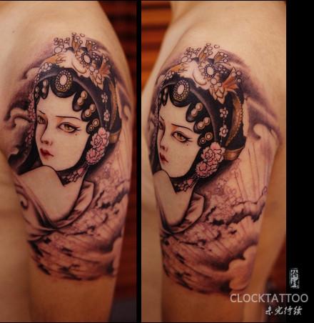 梅花纹身手稿素材图片