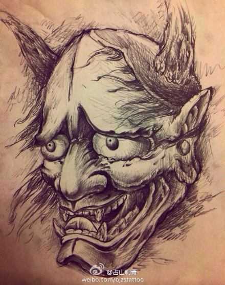 创意水墨画纹身手稿