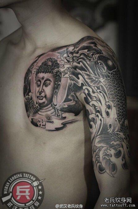 半胛佛鱼纹身作品
