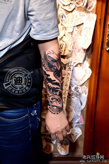 遮盖旧纹身和疤痕--手臂3d纹身图案作品
