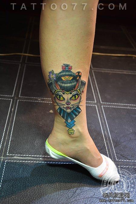 妓猫纹身图案作品