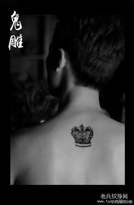 皇冠小清新纹身图案分享展示