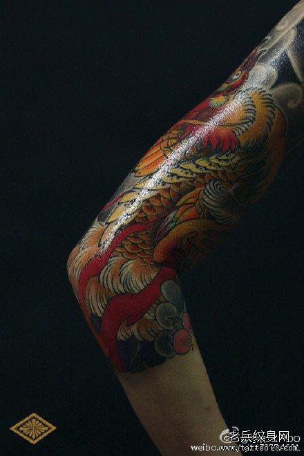 朱雀手臂纹身图案