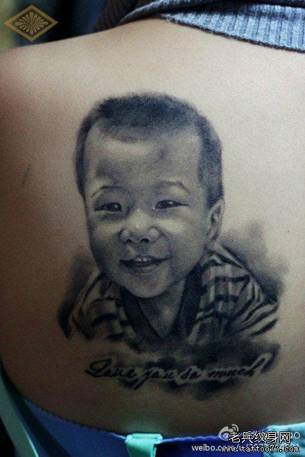 小朋友后背纹身图案