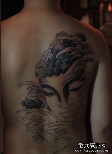 佛祖后背纹身图案