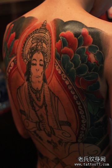美国佛祖满背纹身图案