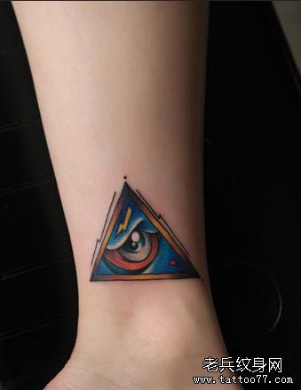 红鱼腿部纹身图案