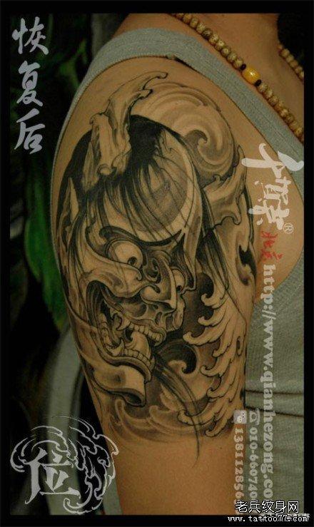 胳膊妖鬼纹身图案图片