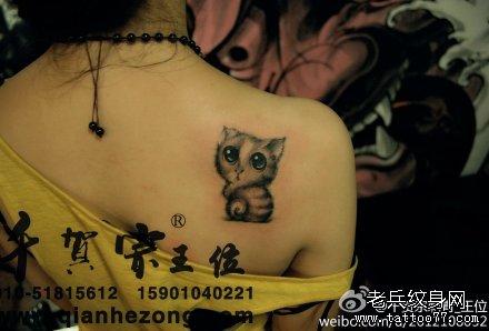 胳膊黑熊猫纹身图案