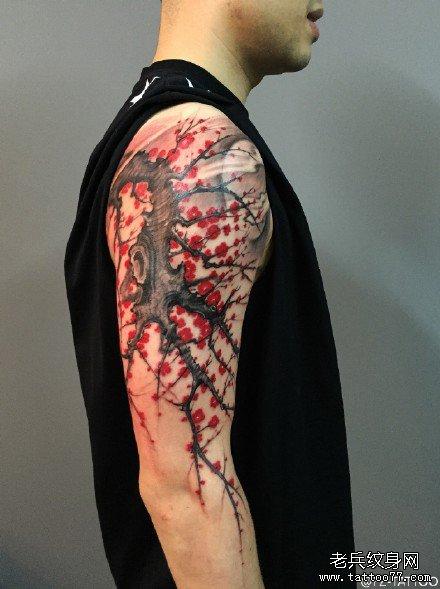 胳膊梅花纹身图案