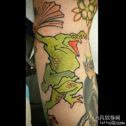 手部王位骷髅纹身图案