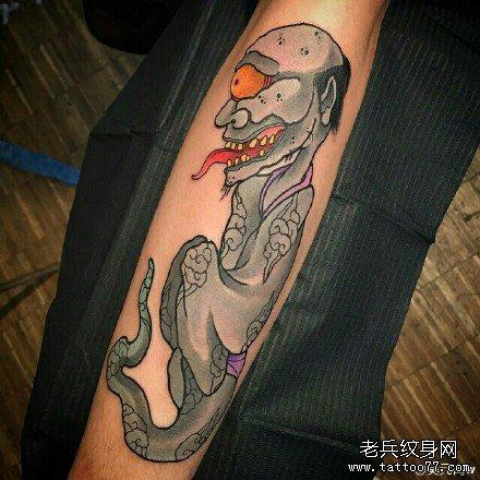 鬼骷髅纹身图案大全