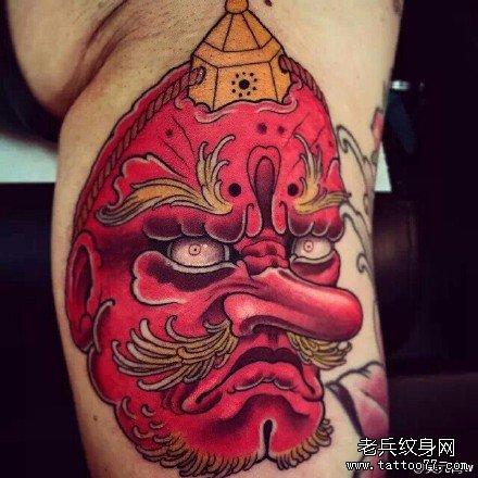 胳膊飞天狗纹身图案