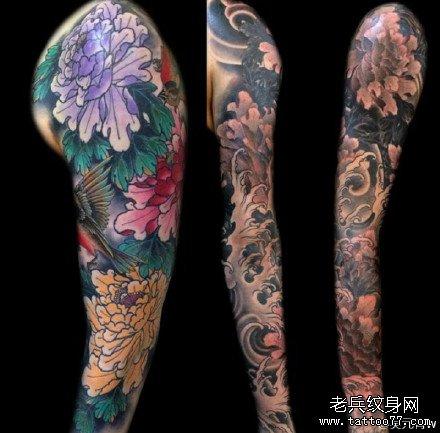 手臂各种花纹身图案图片