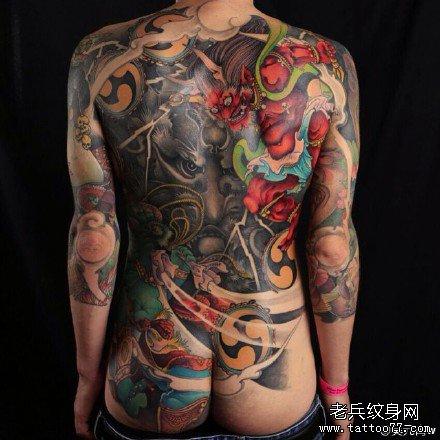 满背纹身图案大全