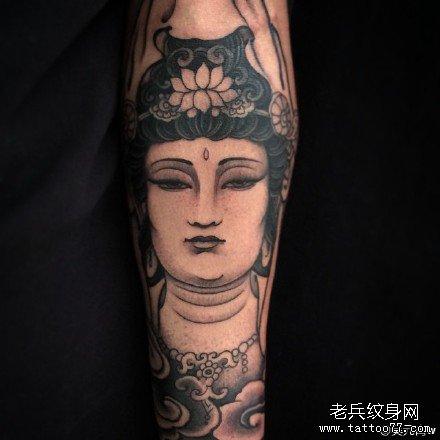 手臂观音纹身图案图片