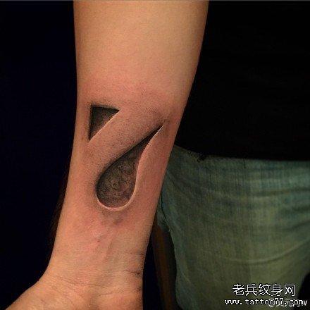 手部数字连体纹身图案图片