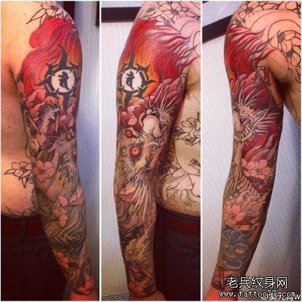 手臂仙龙纹身图案 高清图片