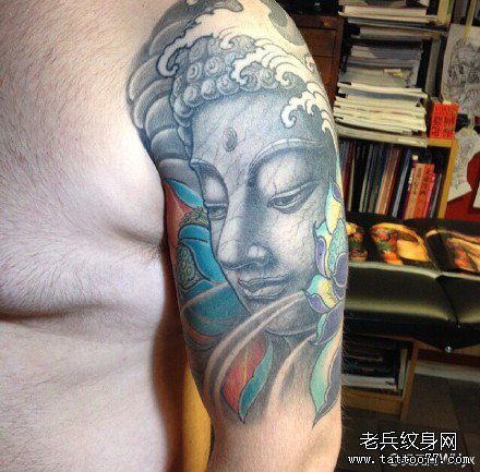 胳膊残佛纹身图案图片