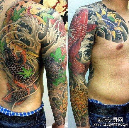 鲤鱼纹身图案大全