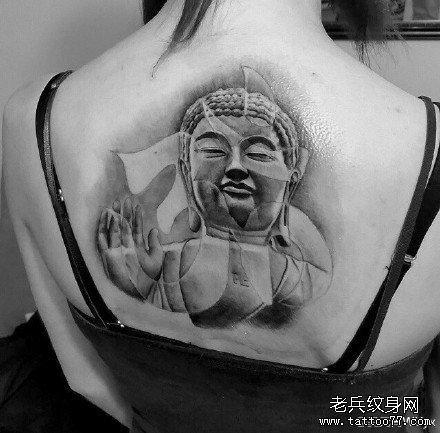 后背佛祖纹身图案