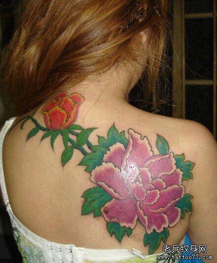 花开富贵牡丹纹身象