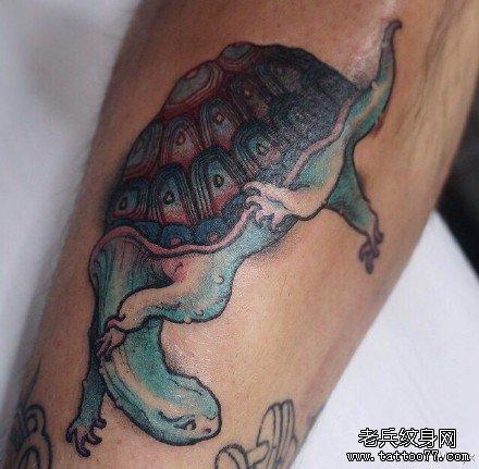 乌龟纹身图案分享展示