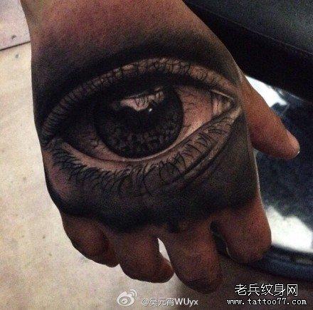 手部天眼纹身图案