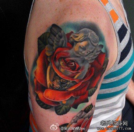 玫瑰纹身图案大全