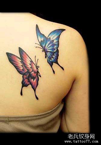 最新蝴蝶纹身