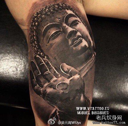胳膊佛纹身图案