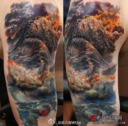 胳膊鱼图腾纹身图案